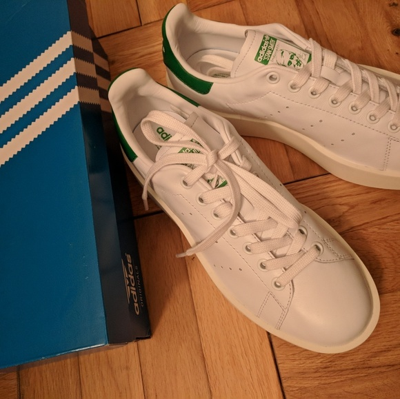 new arrival 914fe 6b593 BRAND NEW Adidas Stan Smith Bold Shoes Size 8 NWT